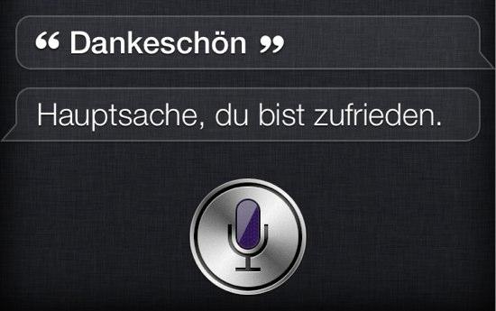 Siri sagt: Hauptsache, Du bist zufrieden.