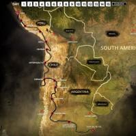 Etappen der Paris-Dakar 2012