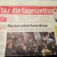 Merkel rettet Euro-Krise