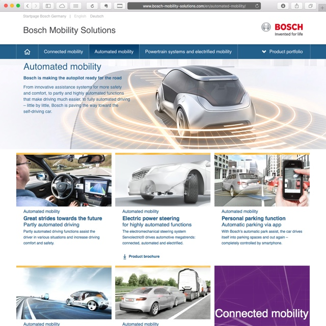 bosch automated mobility