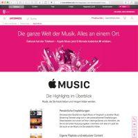 Apple Music bei Telekom