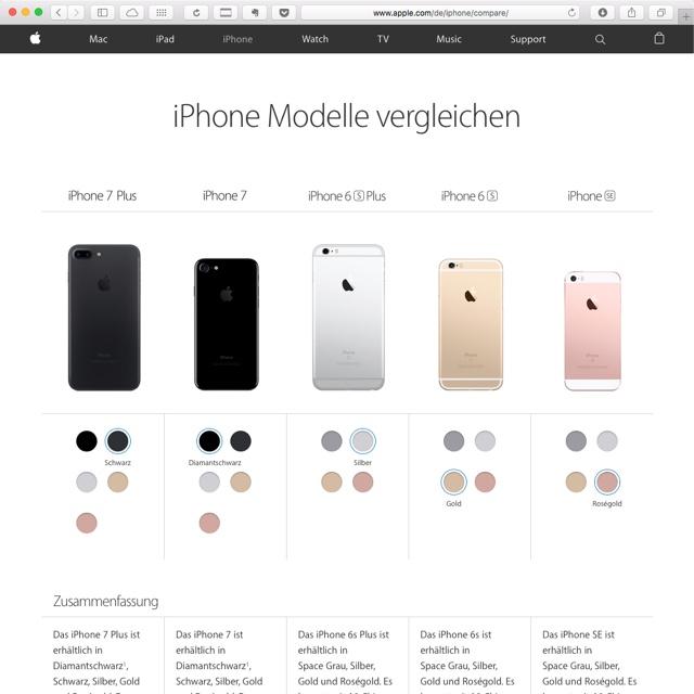 iphone-modelle-vergleichen