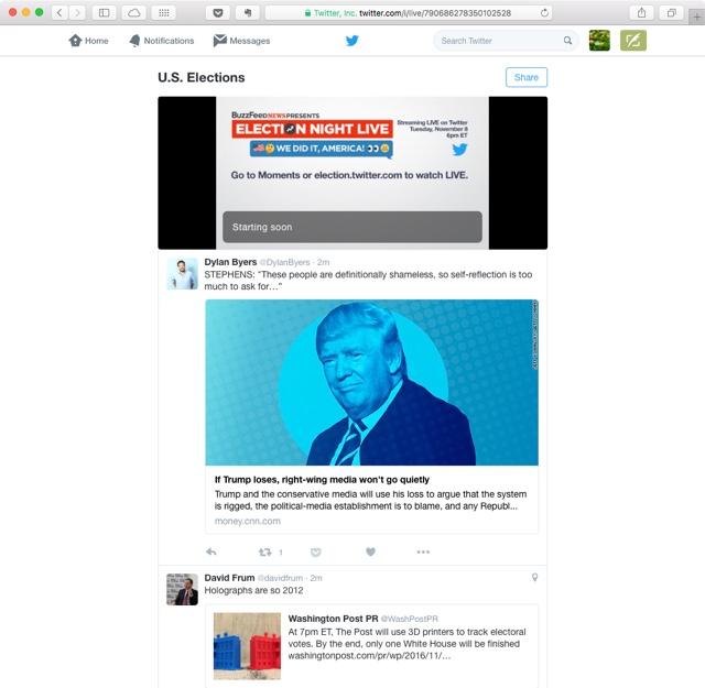 Twitter will das bessere Fernsehen sein: election.twitter.com