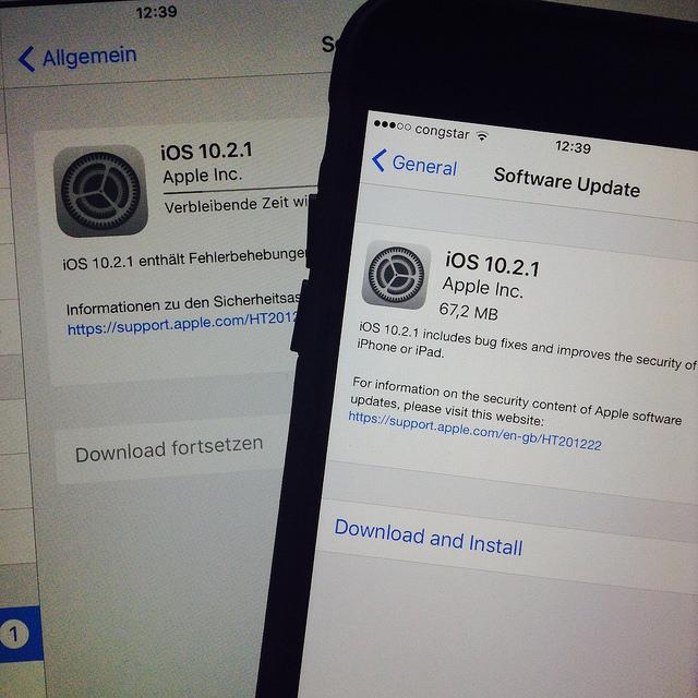 iOS-Update 10.2.1