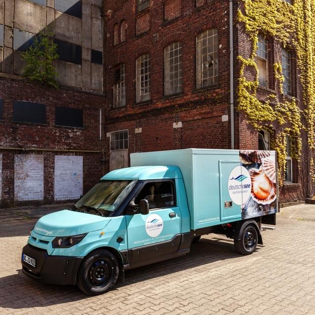 StreetScooter von Deutsche See mit Kühlbox
