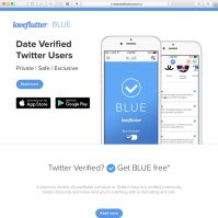 Loveflutter BLUE Date Verified Twitter Users