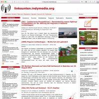 Homepage linksunten.indymedia.org