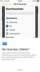 """4) Neue App """"Dateien"""""""