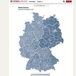 Spiegel: AfD Hochburgen