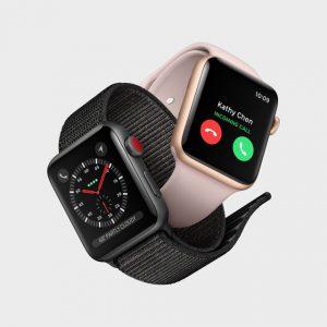 Apple Watch S3 mit eingehendem Anruf