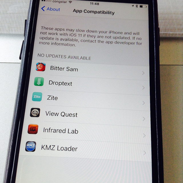 iOS 11 App Compatibility