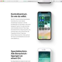 iOS 11 Kontrollzentrum
