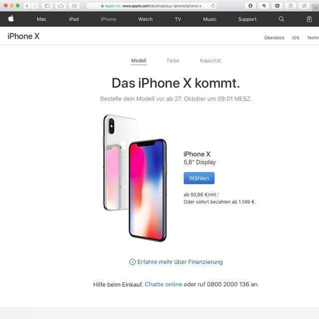 iPhoneX kaufen Apple DE