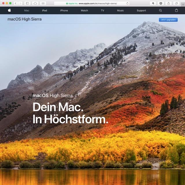 macOS High Sierra von Apple