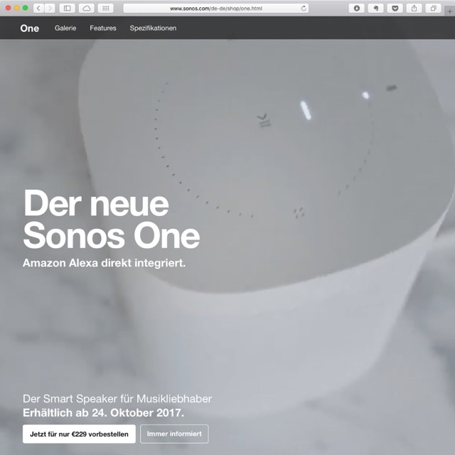 Sonos One Amazon Alexa