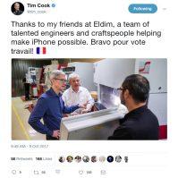 Tim Cook: Votre travail ...