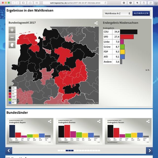 Bundestagswahl 2017 Ergebnis Niedersachsen