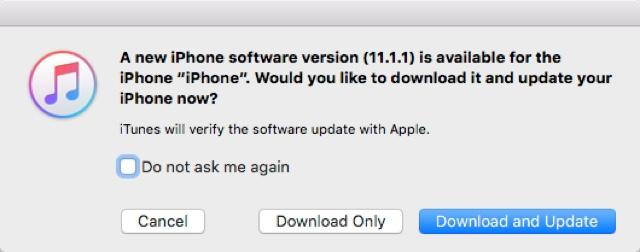 iOS 11.1.1 über iTunes installieren