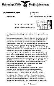 Bormann Erlass über die Abschaffung der Fraktur