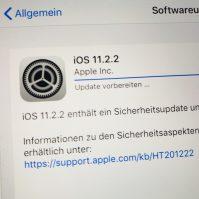 iOS 11.2.2 enthält ein Sicherheitsupdate